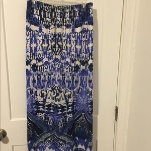 Express flow maxi skirt